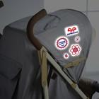 Наклейки светоотражающие на коляску «Самая красивая» (набор)