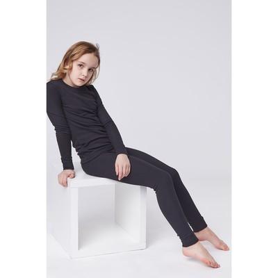 Комплект (джемпер/брюки) для девочки, рост 140 см, цвет чёрный К808
