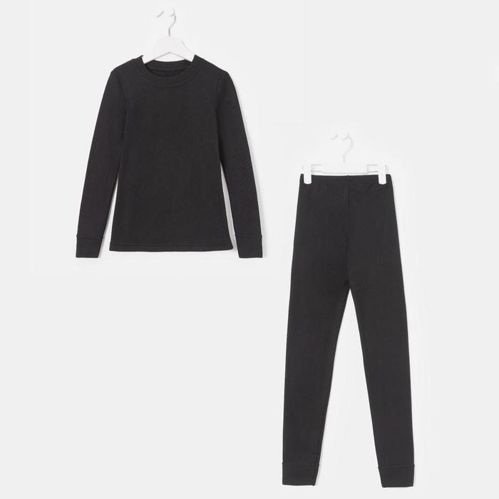 Комплект (джемпер/брюки) для девочки, рост 128 см, цвет чёрный К808 - фото 76126611