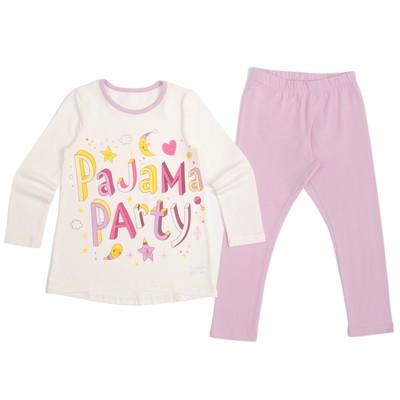 Пижама для девочки, рост 122 см, цвет лаванда/экрю К844