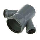 Крестовина канализационная SK-plast, 110 х 50 x 50 мм, 45°