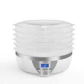 Сушилка для овощей и фруктов Gemlux GL-FD-01R, 500 Вт, 5 ярусов, LCD-дисплей, белая