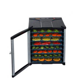 Сушилка для овощей и фруктов Gemlux GL-FD-800D, 800 Вт, 8 ярусов, чёрная