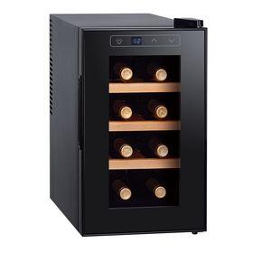 Винный шкаф Gemlux GL-WC-8W, 21 л, 8 бутылок, 7-18°, подсветка, чёрный