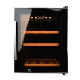 Винный шкаф Gemlux GL-WC-12C, 50 л, 12 бутылок, 5-20°, подсветка, чёрный