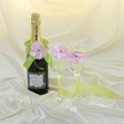 Подвязка для шампанского «Цветок», зелёная