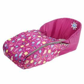 Сиденье мягкое для санок с чехлом для ног «Зима», цвет баклажан