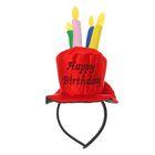 Карнавальный ободок «С днём рождения», цвет красный