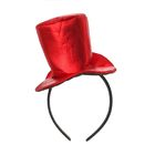"""Карнавальный ободок """"Шляпка"""", цвет красный"""