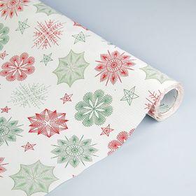 Бумага упаковочная крафт 'Рождественские украшения', 0.5 х 10 м Ош