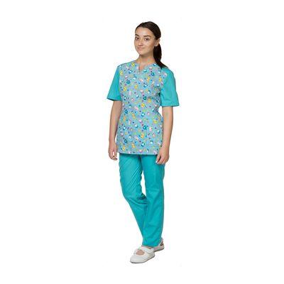 Халат-блуза медицинская модель «Педиатр», размер 50, рост 170-176