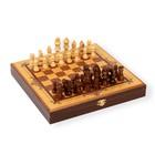 """Шахматы """"Золотая классика"""" (доска дерево 25х25 см, фигуры дерево, Король h=8 см)"""