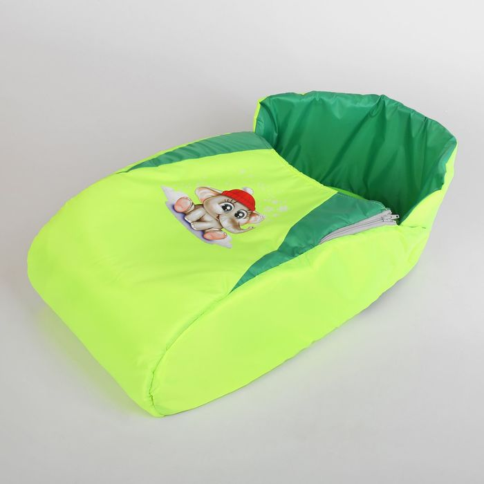 """Матрас со съемным чехлом """"Слон"""", цвет: зелен.-салатовый"""