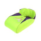 Матрас со съёмным чехлом «Наше счастье», цвет фиолетово-салатовый