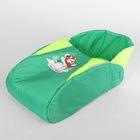 Матрас со съёмным чехлом «Снеговик», цвет зелёно-салатовый