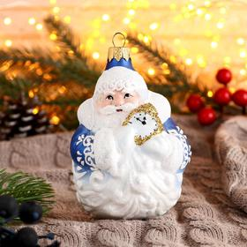 """Ёлочное украшение """"Дед мороз с часами"""" 11,5 см"""