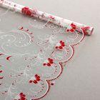 """Пленка для цветов """"Лаванда"""" белый-красный 700 мм х 8.5 м, 35 мкм"""