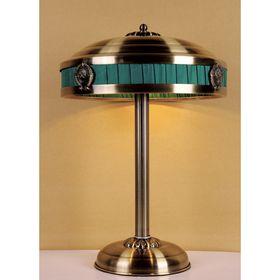 """Настольная лампа """"Cremlin"""" 3xE14 40W античная бронза 37x37x52 см"""