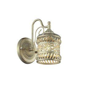 """Бра 1623-1W """"Arabia"""" 1xE14 40W золотисто-белый 13x21x23 см"""