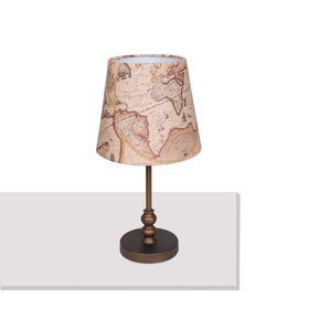 """Настольная лампа 1122-1T """"Mappa"""" 1xE27 60W коричневый 26x26x50 см"""