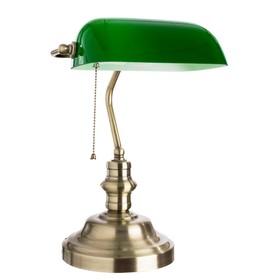 """Настольная лампа """"Banker"""" 1x60W E27 бронза 27x40x40 см"""