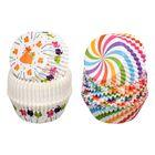 """Набор бумажных форм для выпечки кексов """"Праздник"""", 50 шт (диаметр дна 5 см, высота формы 3 см), цвет МИКС"""