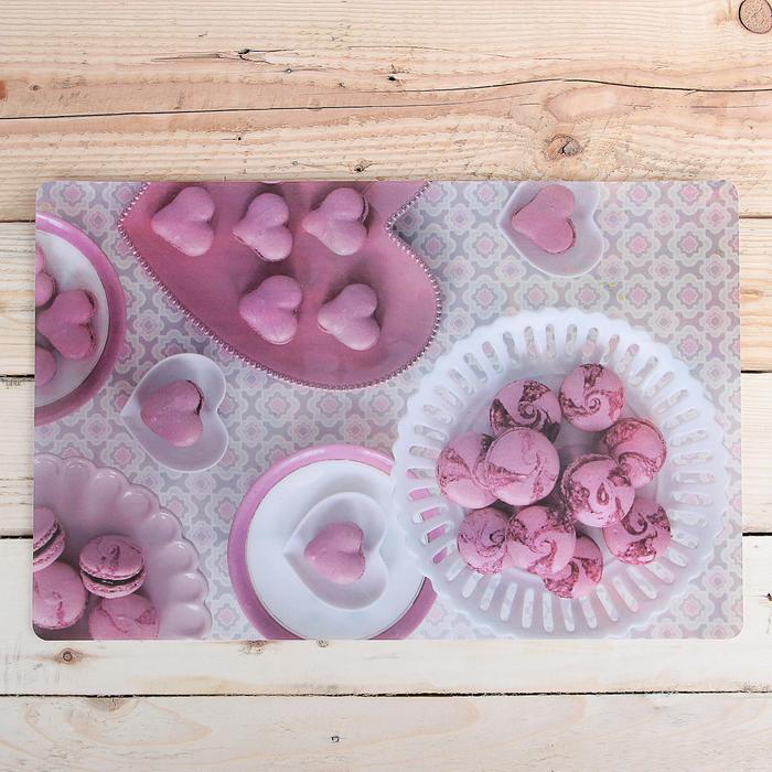 """Салфетка кухонная 42×27 см """"Розовый десерт"""""""