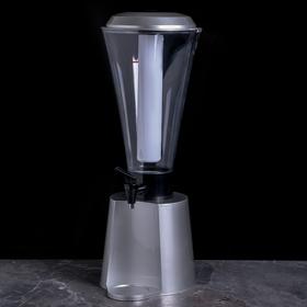 Башня пивная «Металлик», 3 л, колба с подсветкой, 2 батарейки
