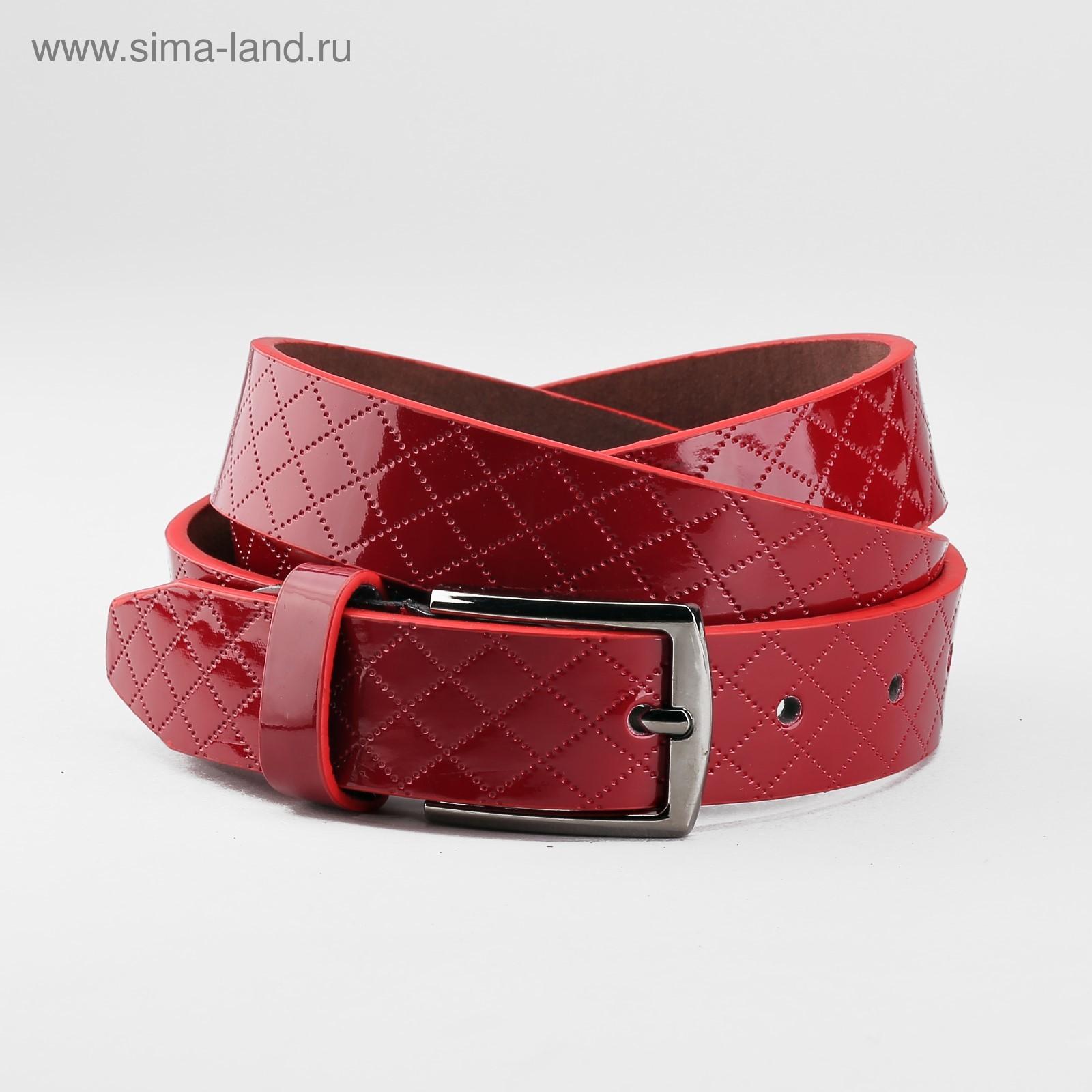 550ffaba3dc9 Ремень женский, пряжка тёмный металл, ширина - 2,8 см, цвет бордовый ...