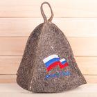 """Шапка банная с вышивкой """"Россия"""""""