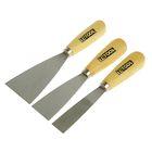 Набор шпателей TiTOOL Standard, 3 шт., 25-40-60 мм, сталь, ручка дерево