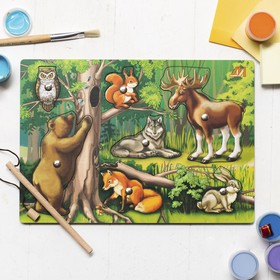 Пазл «Чей малыш? Лесные звери», магнитики