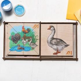 Пазлы «Сложи картинку. Птицы на ферме» Деревянные Игрушки