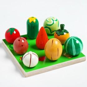Счётный материал «Грядка. Овощи-фрукты»