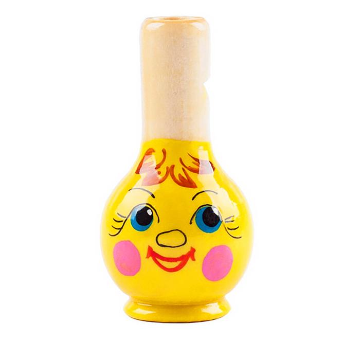 """Свистулька """"Колобок"""", жёлтый"""