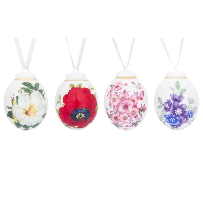 Украшение декоративное, пасхальный набор «Цветы», 4 предмета, в подарочной упаковке