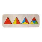 """Рамка-вкладыш """"Разноцветные треугольники"""""""