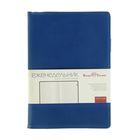 Еженедельник недатированный А5, 64 листа на гребне Concept, искусственная кожа, тонированный блок, кармашки для визиток, синий