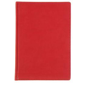 Ежедневник недатированный А5, 136 листов Velvet, обложка искусственная кожа, красный