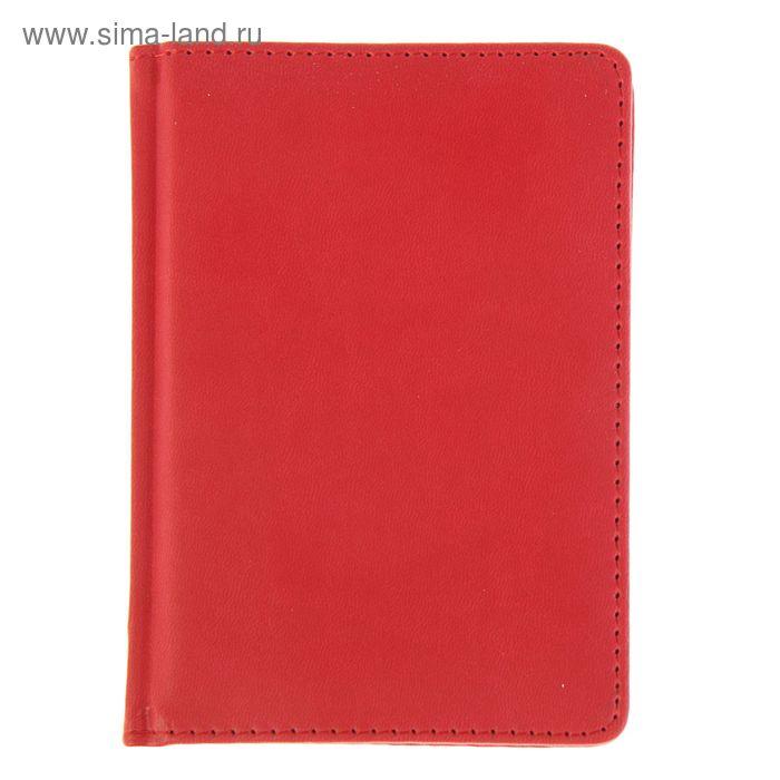 Ежедневник недатированный А6, 136 листов Velvet, искусственная кожа, красный