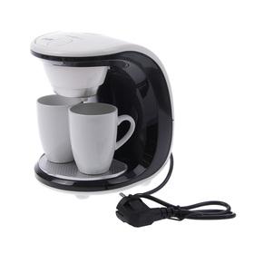 Кофеварка FIRST FA-5453-2WB, капельная, 450 Вт, 0.25 л, бело-чёрная