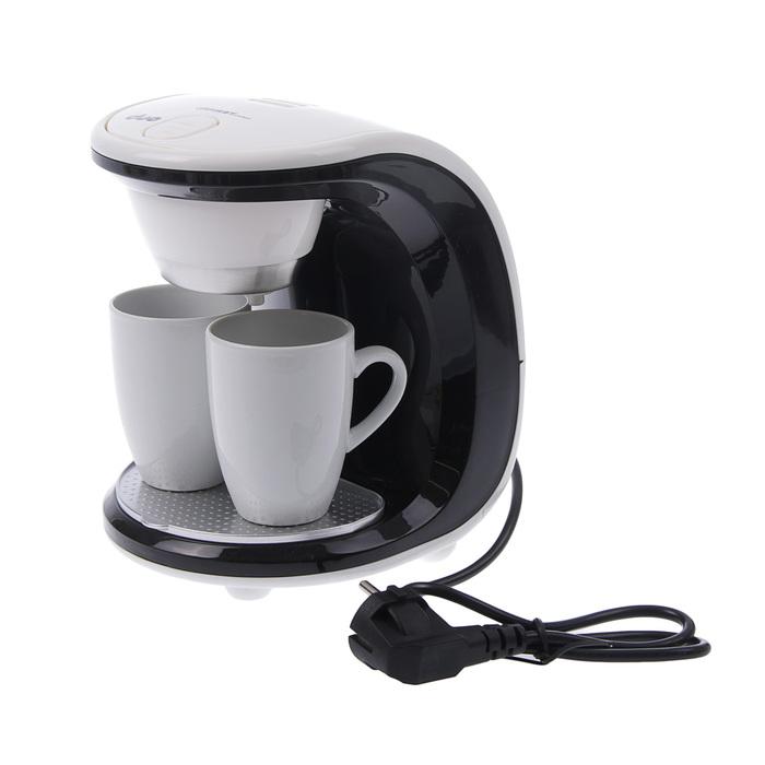 Кофеварка FIRST FA-5453-2WB, 450 Вт, 2 чашки, бело-чёрная
