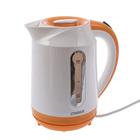Чайник ZIMBER ZM-10825, 1800 Вт, 1.7 л, белый-оранжевый