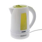 Чайник ZIMBER ZM-10846, 2200 Вт, дисковый нагреватель, 1.7 л, белый-зеленый