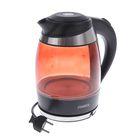 Чайник электрический ZIMBER ZM-10978, 2000 Вт, 1.8 л, черно-оранжевый