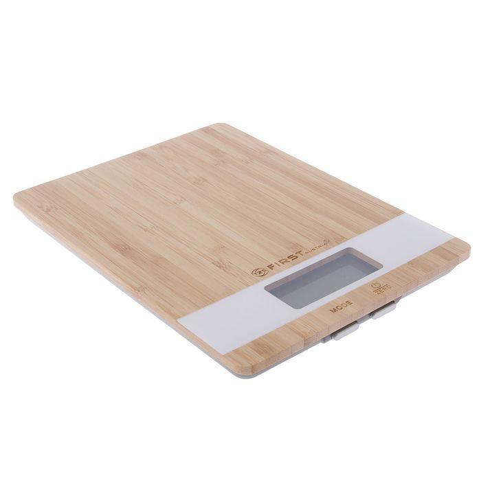 Весы кухонные FIRST FA-6410 Special Edition, бамбук, до 5 кг