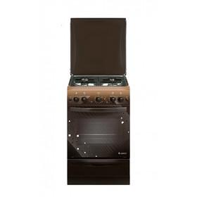 Плита газовая Gefest 5100-02 0010, 4 конфорки, 52 л, газовая духовка, коричневая
