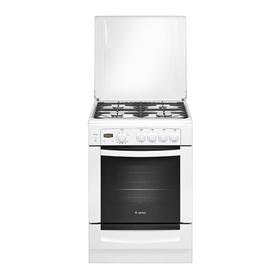 Плита газовая Gefest 6100-03, 4 конфорки, 52 л, газовая духовка, белая