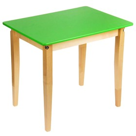 Стол детский №2 (Н=520) (600х450), цвет зелёный