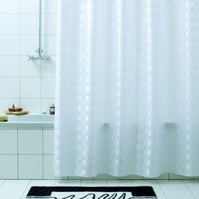 Штора для ванной Quadretto, 240 х 200 см, цвет белый